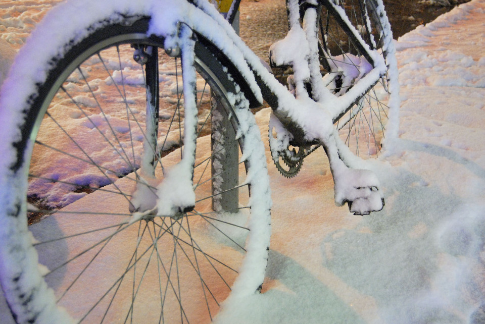 Bike in First Snow