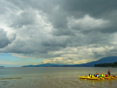 Kayaks at English Bay