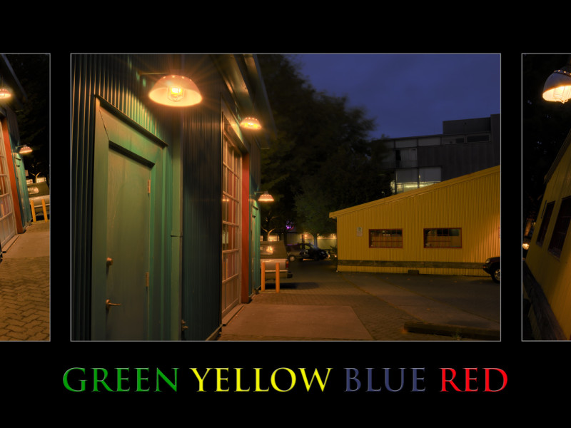 Green Yellow Blue Red