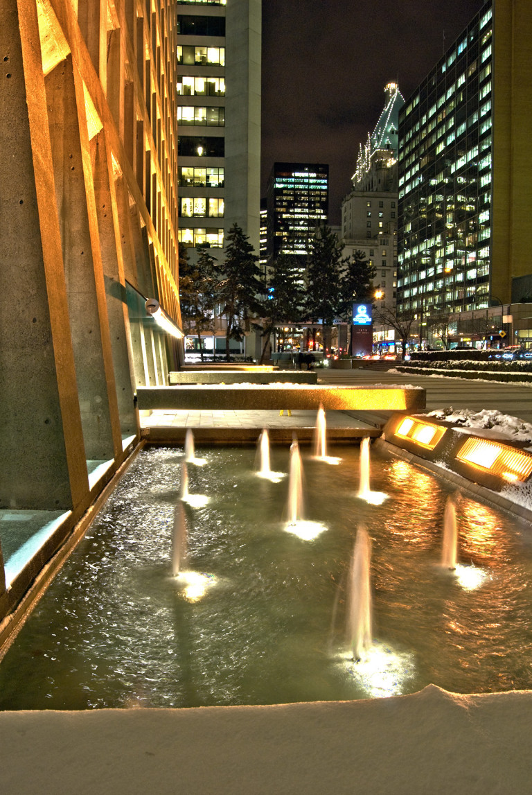 Fountains in the Snow