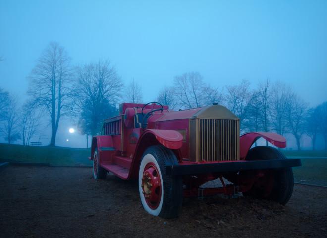 Fire Truck in Fog #2
