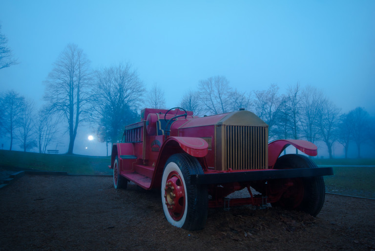 Fire Truck in Fog #2