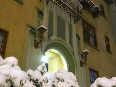 Snow at the Entrance