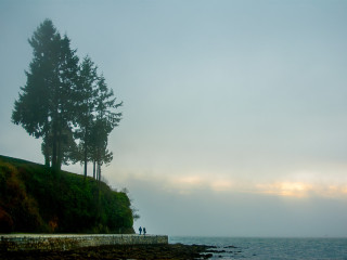 Evening Seawall Promenade